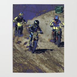 The Home Stretch - Motocross Racers Poster