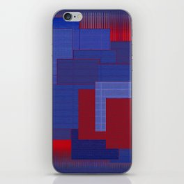 Blue Color Geometry iPhone Skin