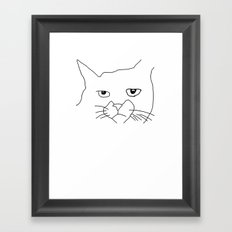 oh hai cat face Framed Art Print