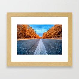 Infrared Road Framed Art Print