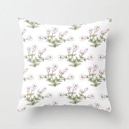 Sea Campion Throw Pillow