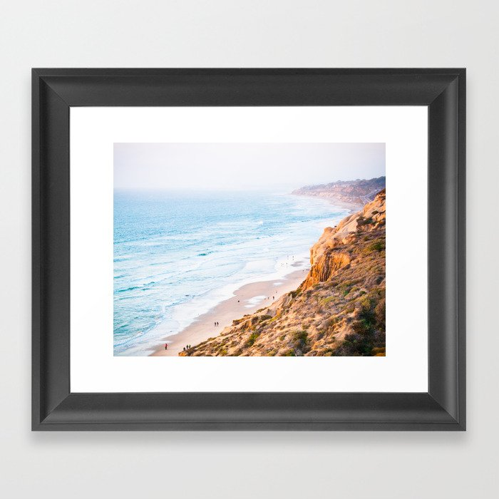 Cliffs at Torrey Pines Reserve Fine Art Print Gerahmter Kunstdruck