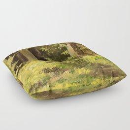 Woodland Landscape Nature Art Floor Pillow