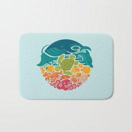 Aquatic Rainbow (light blue) Bath Mat