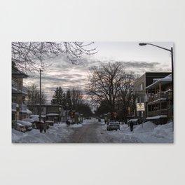 downtown snow Canvas Print