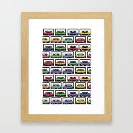 Retro Cassettes Framed Art Print