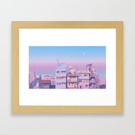 Morning Moon Framed Art Print