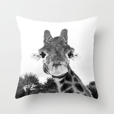 Giraffe. B+W. Throw Pillow