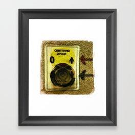centering device Framed Art Print
