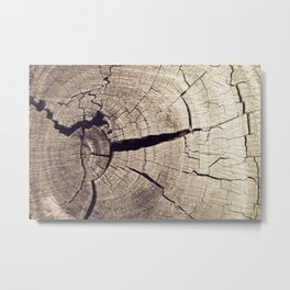 Cracks in Time Metal Print