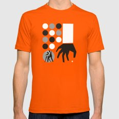 Orange Dr No SMALL Mens Fitted Tee Orange