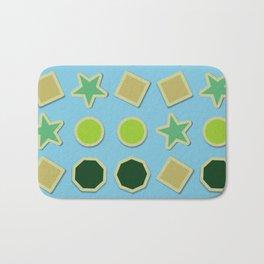 Shapes stickers Bath Mat