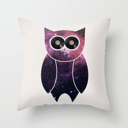 Owl Night Long Throw Pillow