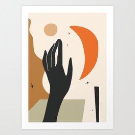 Abstract Art Hand Art Print