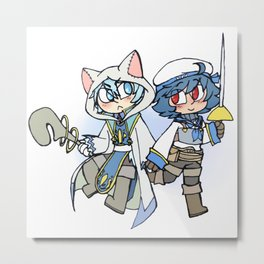 Sakuya and Ryouta Metal Print