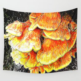 Fried Chicken of the Woods Wall Tapestry