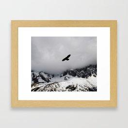 Black Over Grey Over White Framed Art Print