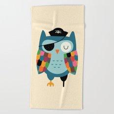 Captain Whooo Beach Towel