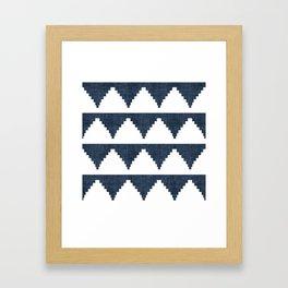 Lash in Navy Blue Framed Art Print