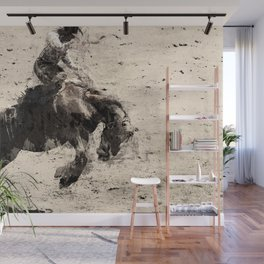 Hanging On - Bronco Busting Champ Wall Mural