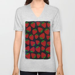 Strawberry pattern Unisex V-Neck