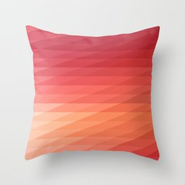 Fig. 044 Coral, Pink & Peach Geometric Diagonal Stripes Throw Pillow