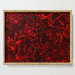 floral ornaments pattern ch Serving Tray