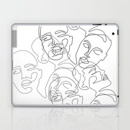 Lined Face Sketches Laptop & iPad Skin