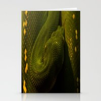 monty python Stationery Cards featuring basking python by Claes Touber