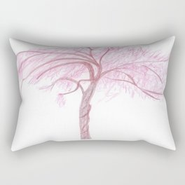 Blush Rising Tree  Rectangular Pillow