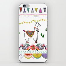 Llama Illustration iPhone Skin