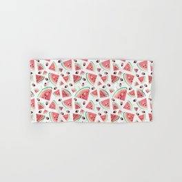 Watermelon popsicles, strawberries and chocolate Hand & Bath Towel
