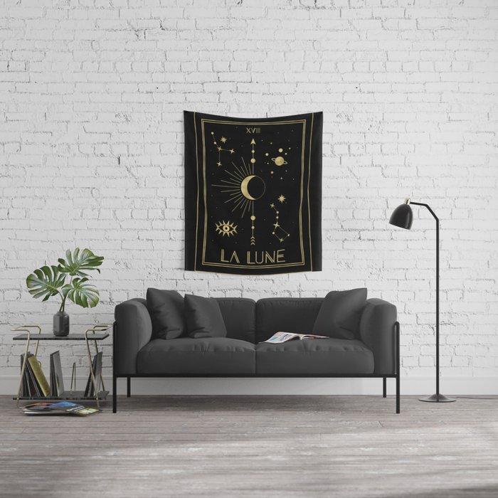 The Moon or La Lune Gold Edition Wandbehang