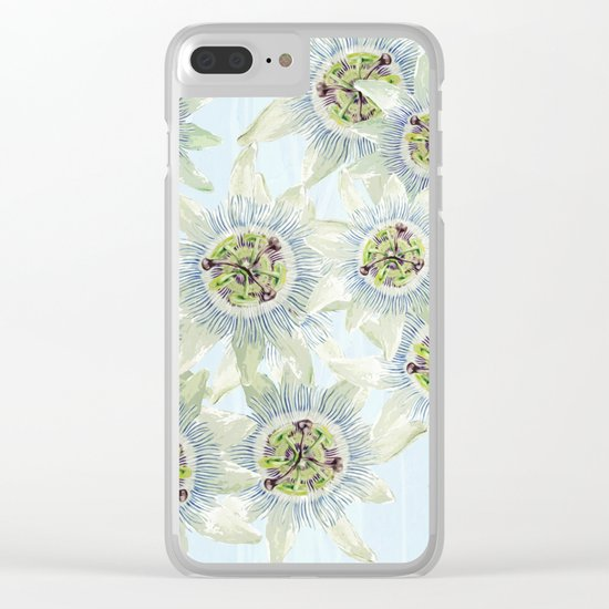 Passion flower Fever Clear iPhone Case