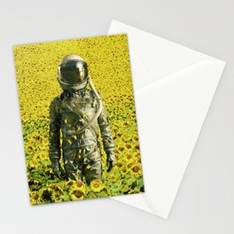 Stranded in the sunflower field Stationery Cards