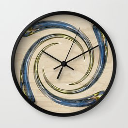 Flower Globe Bubble on Wood Wall Clock
