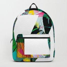 Tropical LOVE brush strokes Backpack