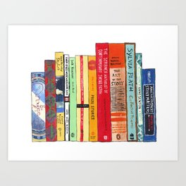 Bright Books Bookshelf Painting Art Print