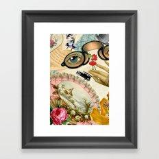 Vintage Romatic Collage Framed Art Print