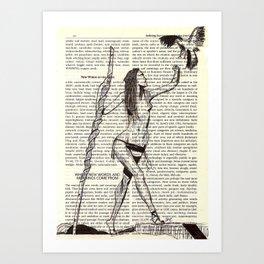 Hawk Woman Art Print