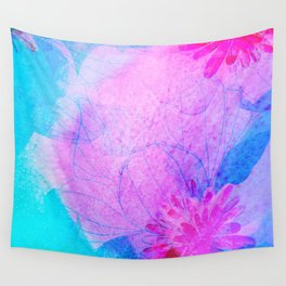 Punchy floral Wall Tapestry
