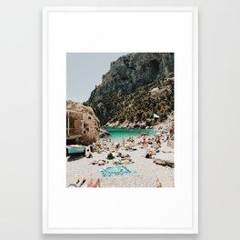 Sunbathers, Capri Framed Art Print