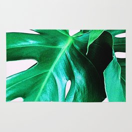 Cheese Plant Leaves Rug