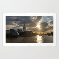 London at Sunset Art Print