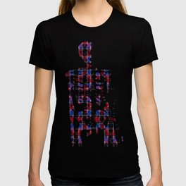 Cart Handle Semi-Plaid In Red, Pink, Blue, and Black T-shirt