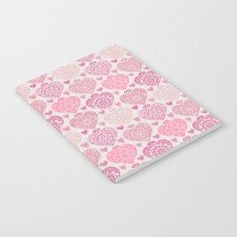Pink Heart Valentine's Doilies Pattern Notebook