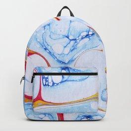 Marble bubble ocean watercolor Backpack