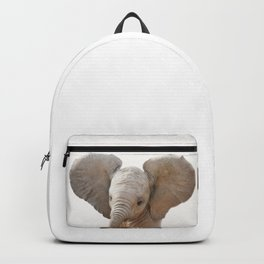 Baby Elephant, Baby Animals Art Prints by Synplus Backpack