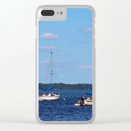 Summer On The Lake Clear iPhone Case