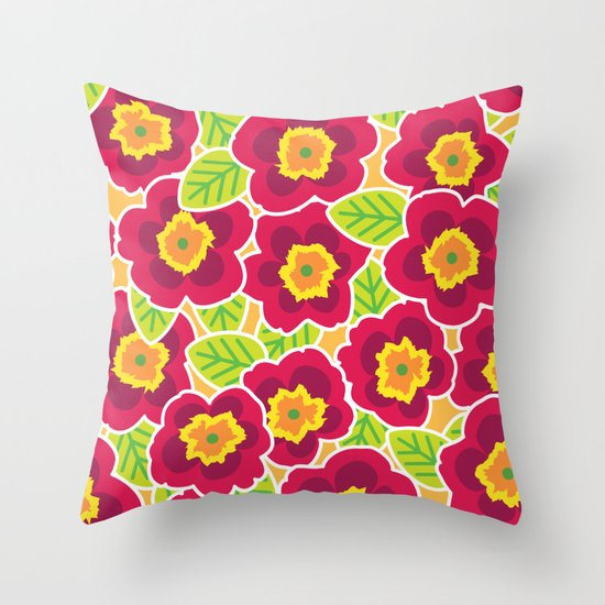 Primrose Collection 3 Throw Pillow